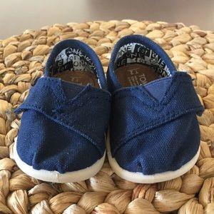 255433142e7 Toms Shoes - Toms Navy Blue Kids Toddler Velcro Strap Shoes